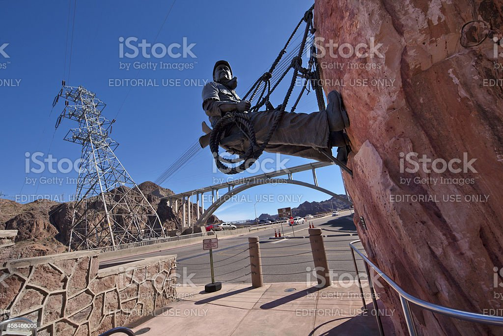 High Scaler Monument at Hoover Dam royalty-free stock photo