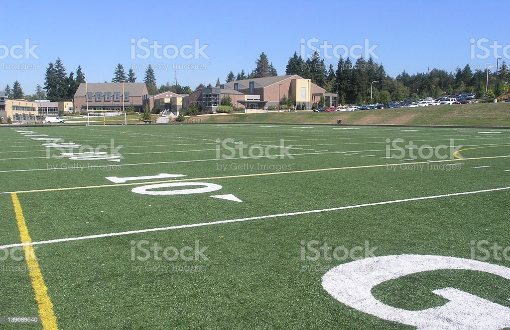 High School Ball Field royalty-free stock photo