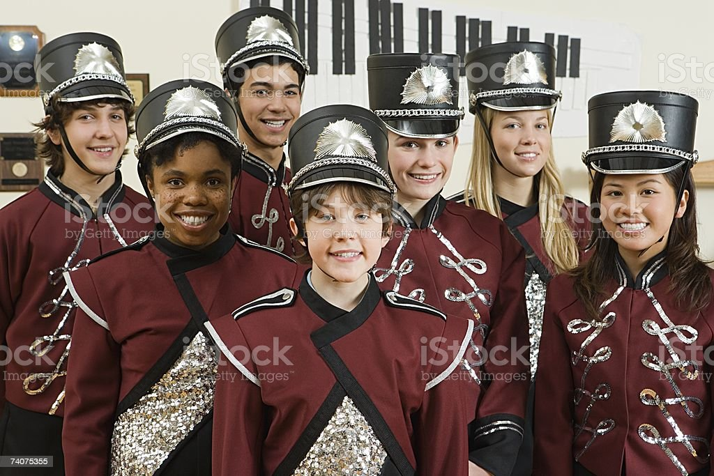 High school band stock photo