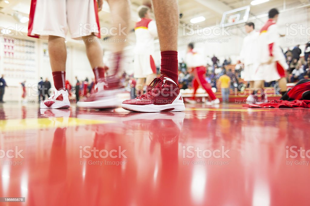 High School Basketball Team royalty-free stock photo