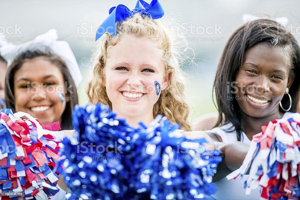 High school cheerleaders royalty-free stock photo