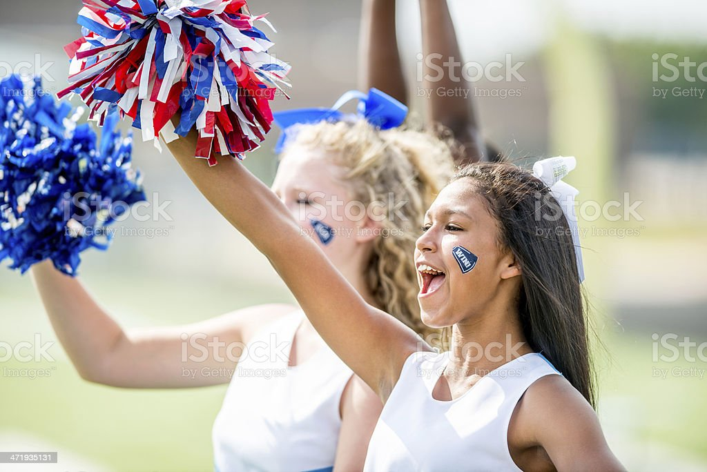 High school cheerleaders royalty-free stock photo