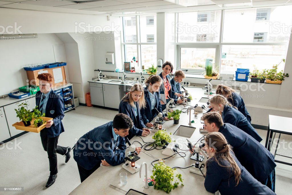 High School Classroom stock photo