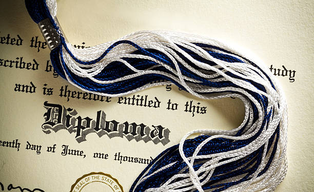 High School Diploma stock photo