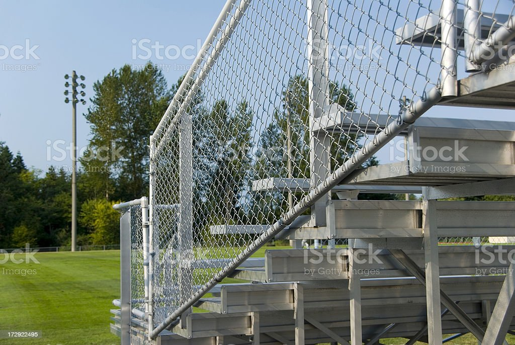 High school football field stands royalty-free stock photo