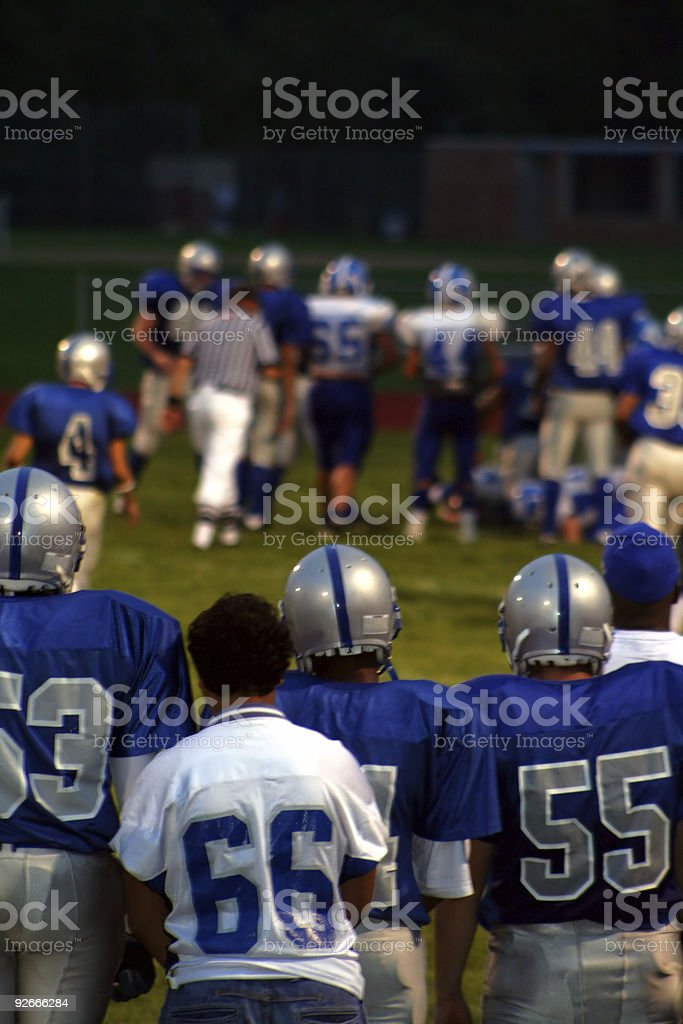 High School Football Five royalty-free stock photo