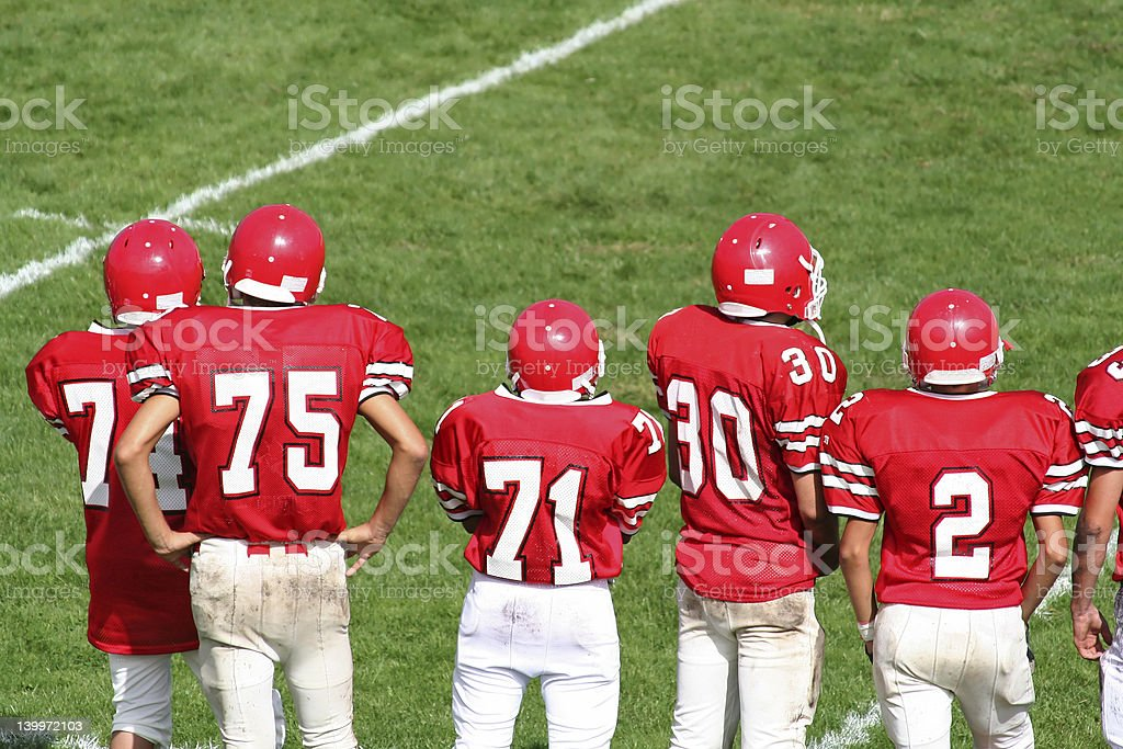 High School Football Team stock photo