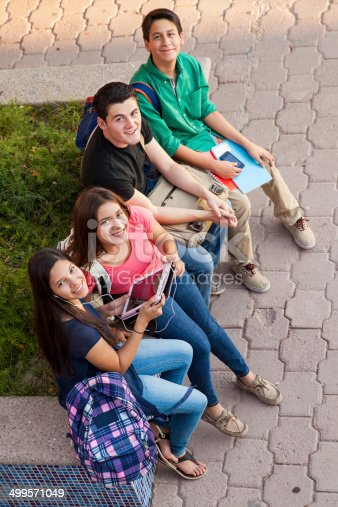 istock High school friends hanging out 499571049