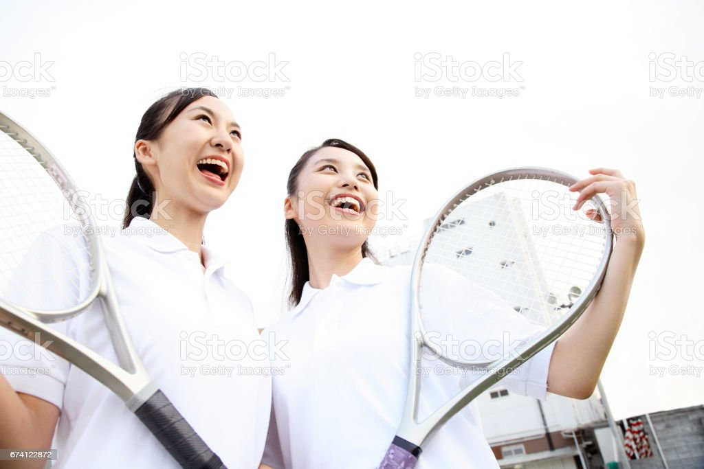 High school girl smile with bracket royalty-free stock photo