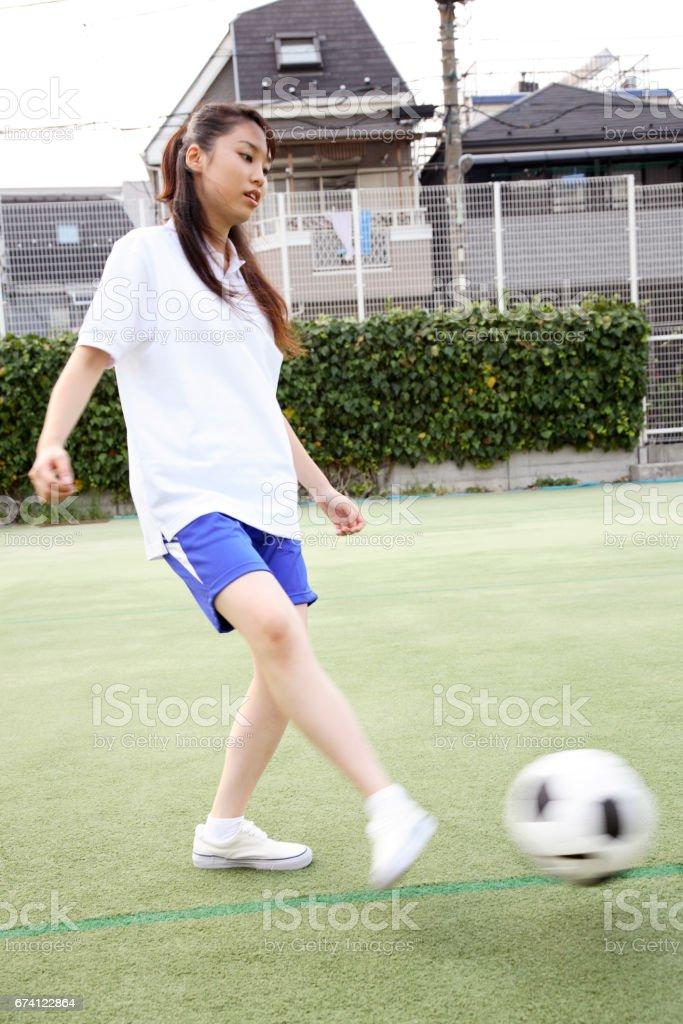 高中女生足球 免版稅 stock photo