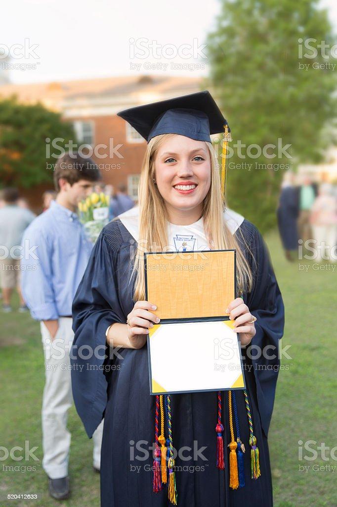 High School Graduate stock photo