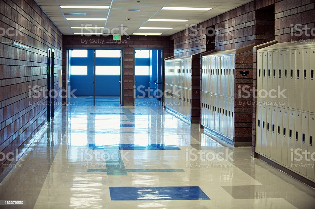 High School Hallway royalty-free stock photo