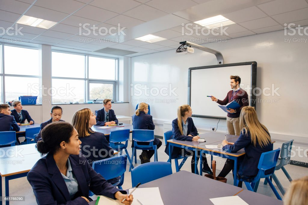 High School Lesson royalty-free stock photo