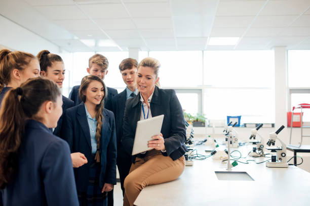 high school lesson - private school stock photos and pictures
