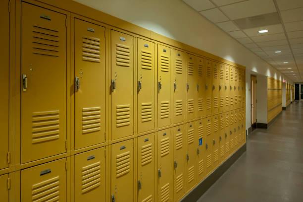 High School Lockers stock photo