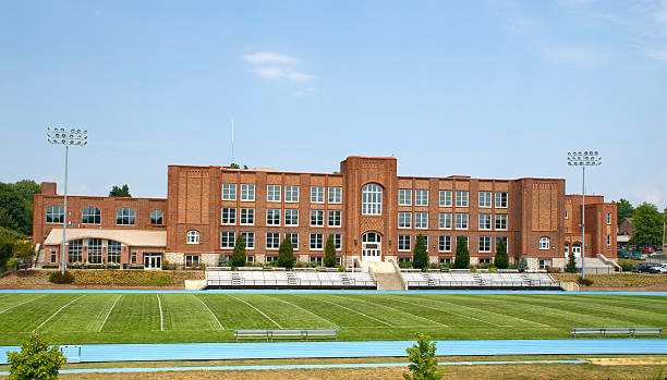 High School  high school building stock pictures, royalty-free photos & images