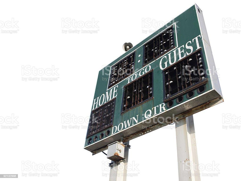 HIgh School Scoreboard Isolated royalty-free stock photo
