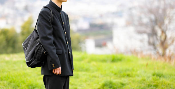 High school student in uniform High school student in uniform child prodigy stock pictures, royalty-free photos & images