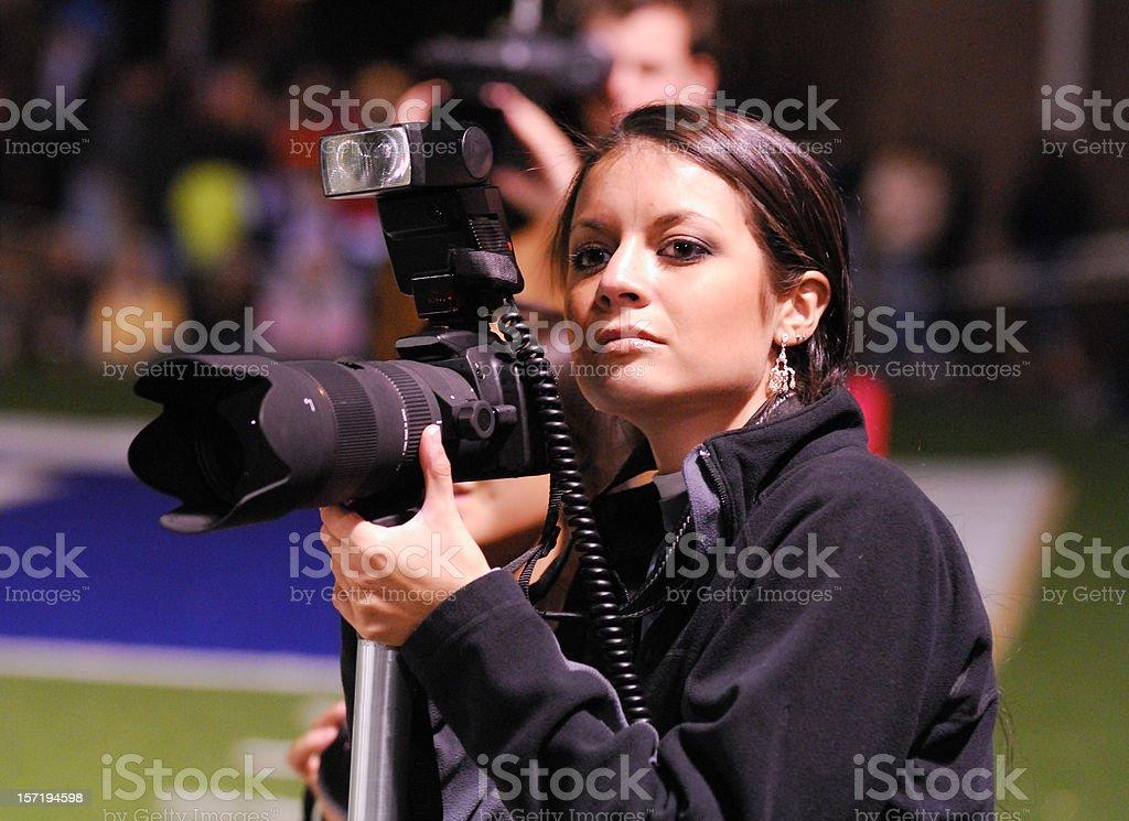 High School Student Photographer stock photo