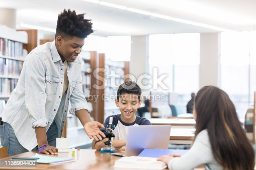 istock High school student tutors younger students 1138904400