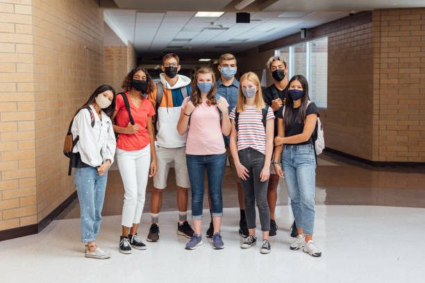 High School Students at School during COVID-19