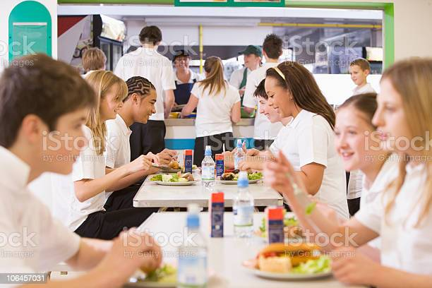 High school students eating in the cafeteria picture id106457031?b=1&k=6&m=106457031&s=612x612&h=bmryod9kzazwogdheic3rtuofd i7tcuodfshskenoo=