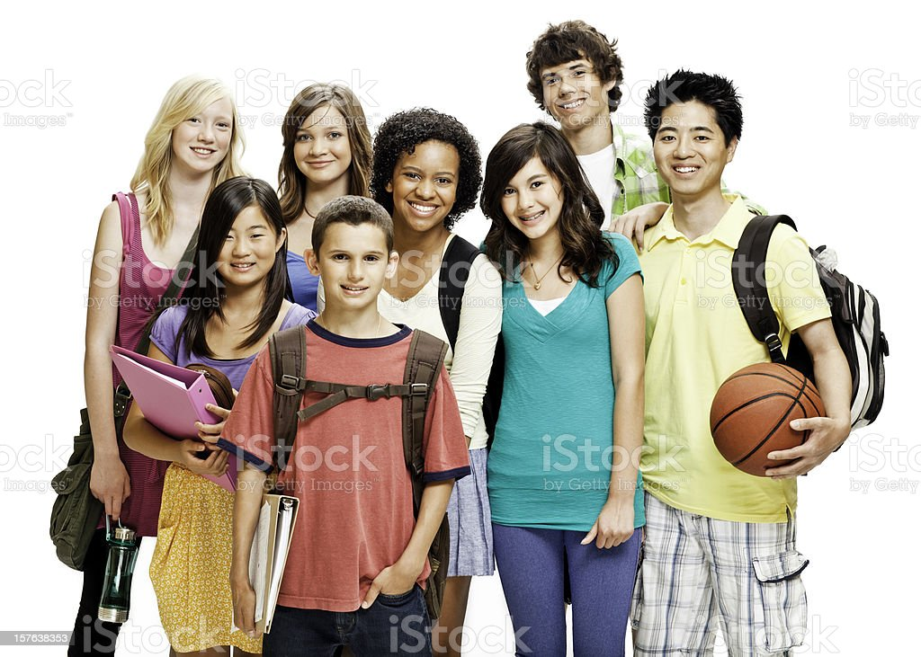 High School Students - Isolated royalty-free stock photo