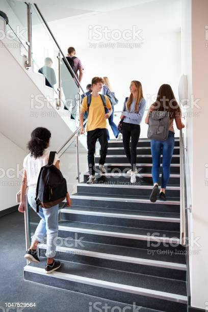High school students walking on stairs between lessons in busy picture id1047529564?b=1&k=6&m=1047529564&s=612x612&h=mhr0o5o1s81hhxl9oabrka5wswcbylyrc27ygtim8jm=