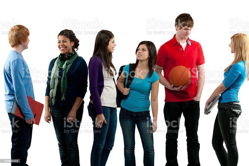 High school teens royalty-free stock photo