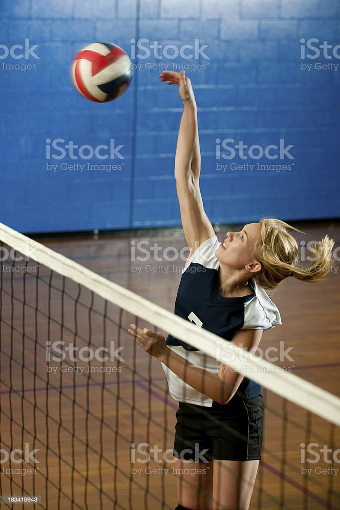High school volleyball stock photo