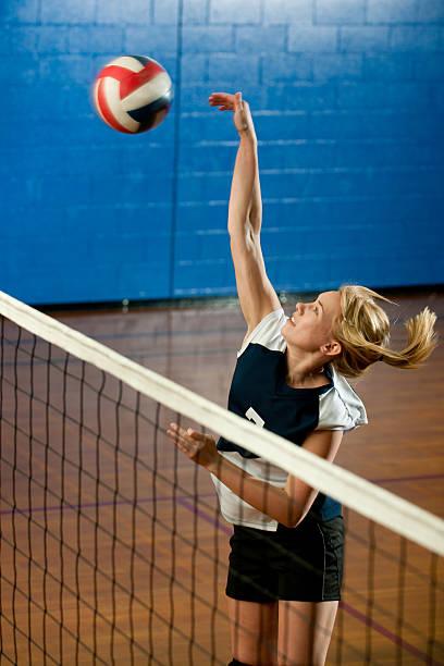 high school volleyball - 殺球 個照片及圖片檔