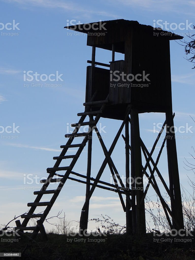 High seat silhouette stock photo