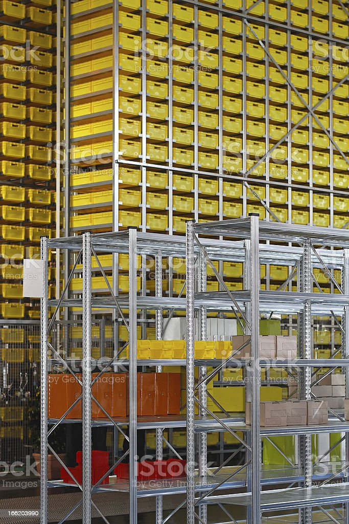High shelving system stock photo
