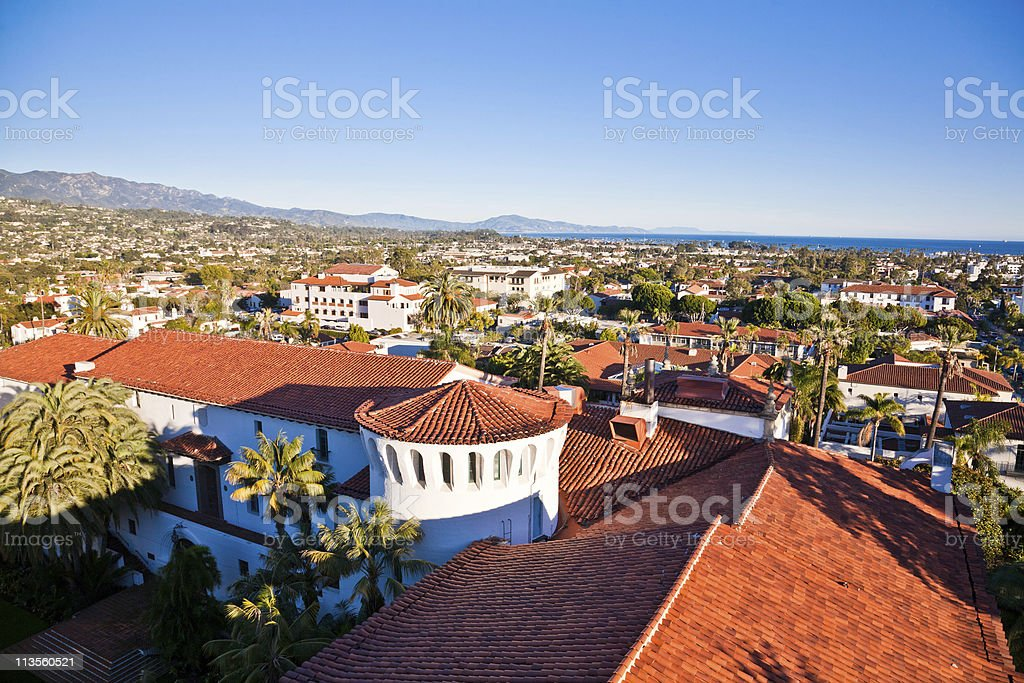 High shot of Santa Monica town homes royalty-free stock photo