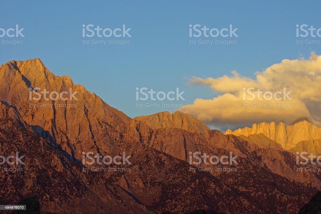 High Sierra Peaks stock photo