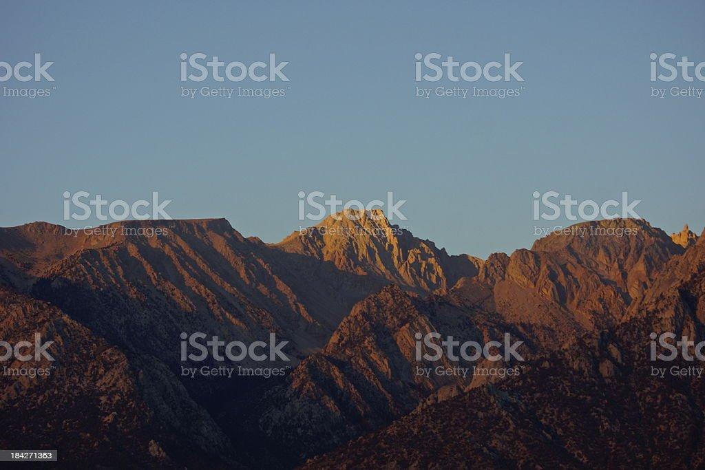 High Sierra Sunrise Glow stock photo
