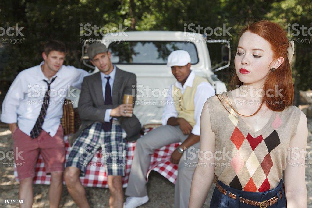 High Society Picnic royalty-free stock photo