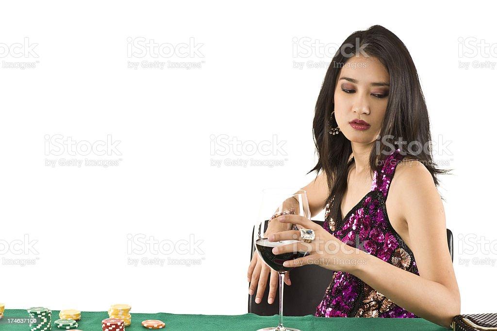 Female Asian player - gambling away