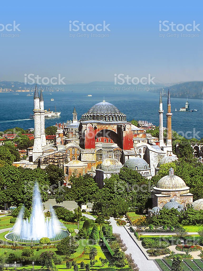High Sophia Ayasofye istanbul stock photo