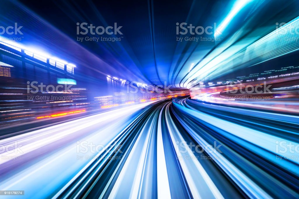 high speed abstract MRT track of motion light for background - Royalty-free Abstrato Foto de stock