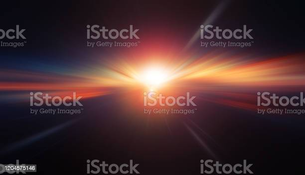 Photo of High speed blur zoom effect abstract powerful future energy for background.