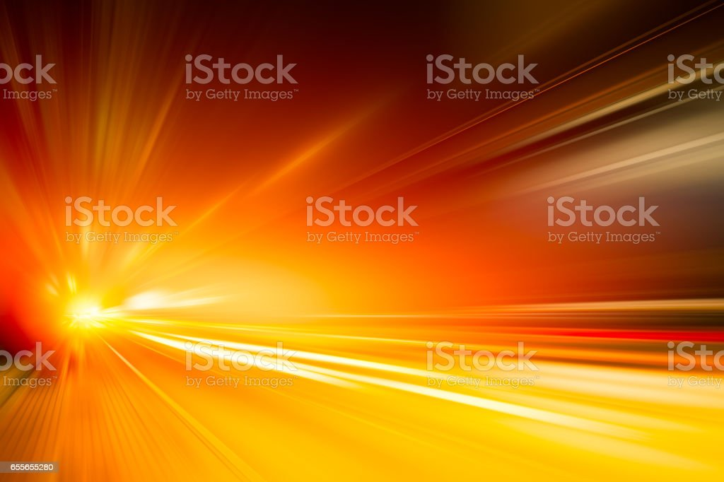 High speed business and technology concept, Acceleration super fast speedy car drive motion blur of light fastest abstract for background design. stock photo