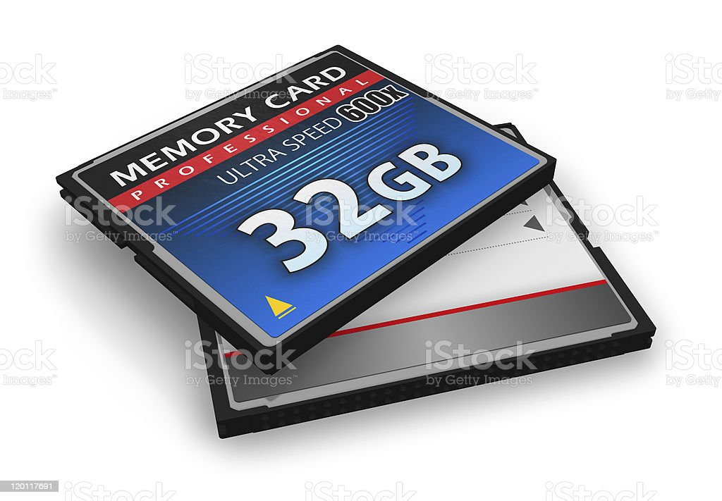 High speed CompactFlash memory cards royalty-free stock photo