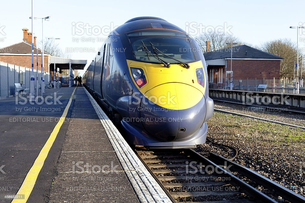 High speed electric train stock photo
