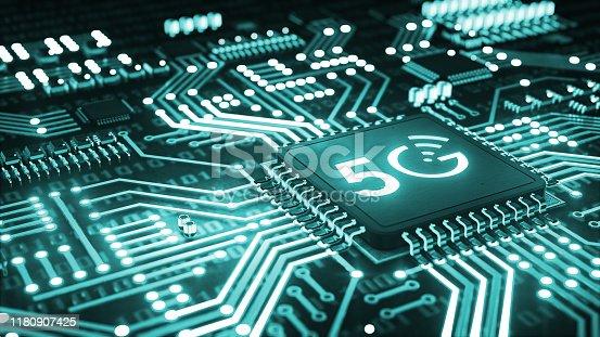 istock 5G High speed internet network communication 1180907425