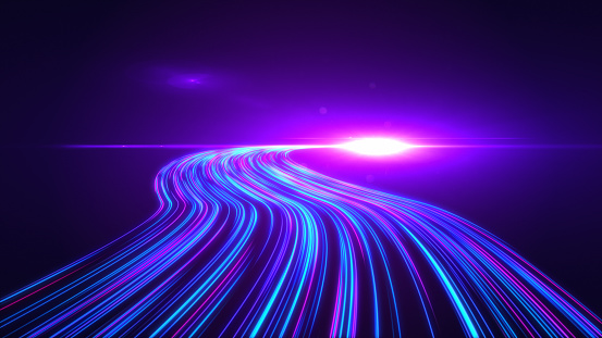 1089201306 istock photo High Speed lights Tunnel motion trails 1089201104