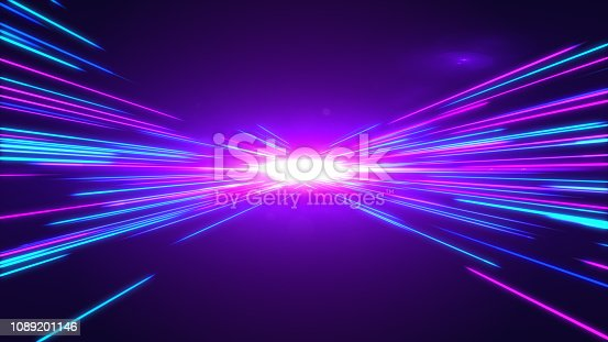 1089201306 istock photo High Speed lights Tunnel motion trails 1089201146