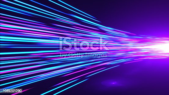 1089201306 istock photo High Speed lights Tunnel motion trails 1089201290