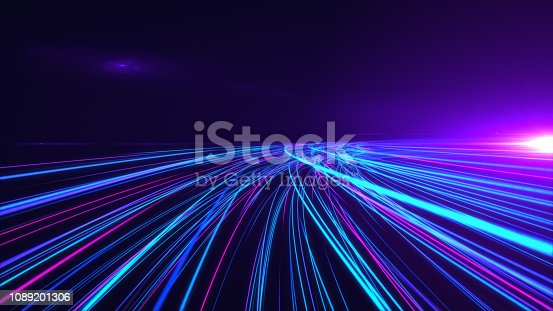 istock High Speed lights Tunnel motion trails 1089201306