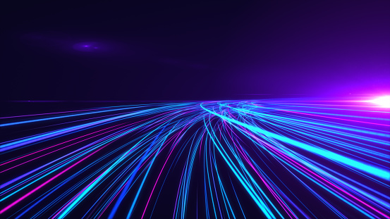 1089201306 istock photo High Speed lights Tunnel motion trails 1089201306